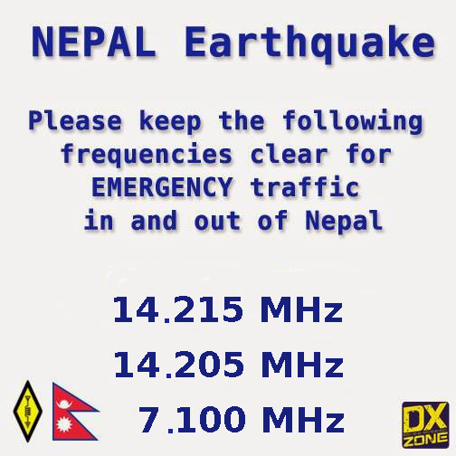 Amayeur Radio for Nepal earthquake